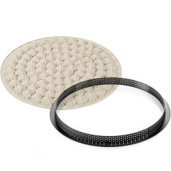 Kit Tarte Meringué di Silikomart: 1 stampo in silicone ed 1 anello tondo microforato