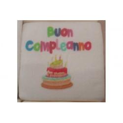 """Marshmallow Quadratino """"Buon Compleanno"""" in busta da 20pz"""