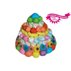 Torta Marshmallow piccola colorata 580 gr