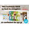 Mini confettata Crispo Snob 15 gusti -  10 astucci da 150gr