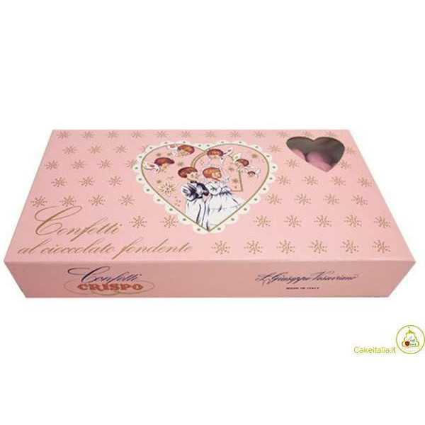 1 Kg Confetti Rosa al Cioccolato Fondente