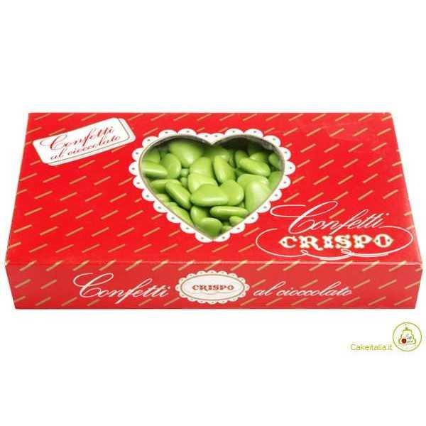 Confetti Cuore Amorini Verde 1Kg