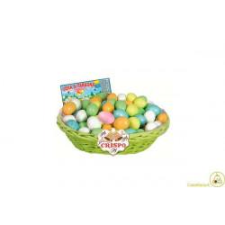 Cesto uova di faraona confettate ripiene di crema alla nocciola e cereali da 1 Kg