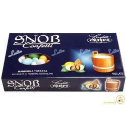 Confetti Snob Ciocomandorla al Latte Colori Assortiti Kg 1
