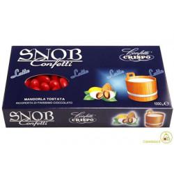 Confetti Snob alla Mandorla e Cioccolato al Latte Rosso Laurea Kg 1