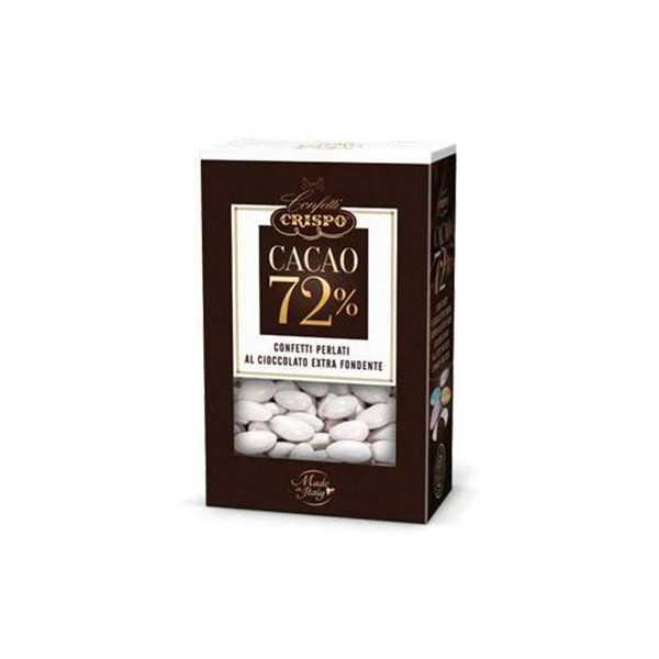 500 gr Confetti Bianchi Perlati al Cioccolato Fondente 72%