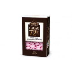 500 gr Confetti Rosa Perlati al Cioccolato Fondente 72%