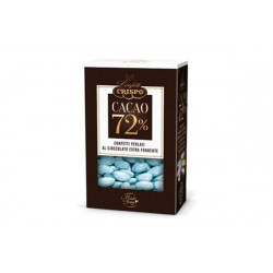 500 gr Confetti Celeste Perlati al Cioccolato Fondente 72%