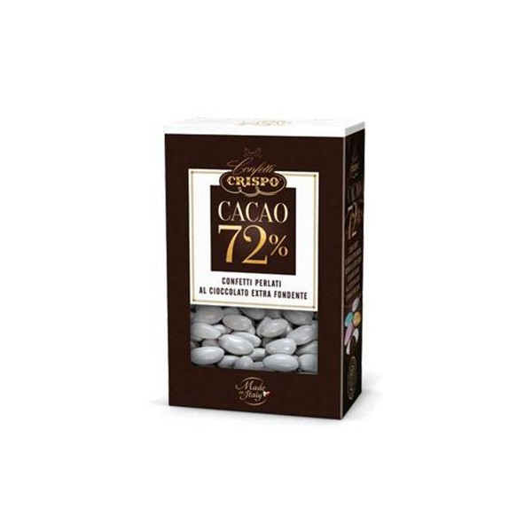 500 gr Confetti Argento Perlati al Cioccolato Fondente 72%