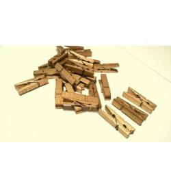 Mollettina in legno cm 3 colore oro pz 24