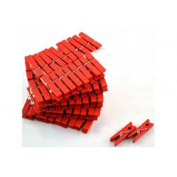 Mollettina in legno cm 3 colore rosso pz 24