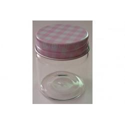 Barattolino portaconfetti segnaposto in vetro cm 5x4 rosa