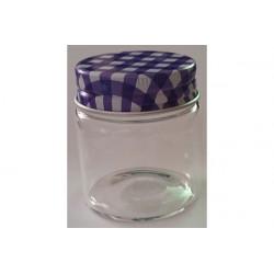 Barattolino portaconfetti segnaposto in vetro cm 5x4 viola