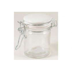 Barattolino portaconfetti in vetro con tappo in ceramica cm 10