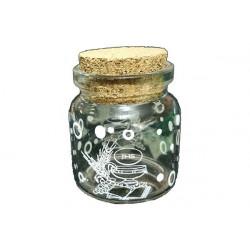 Barattolino portaconfetti con tappo in sughero comunione cm 4.5x4.5