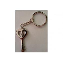 Portachiavi bomboniera chiave con cuore cm 5