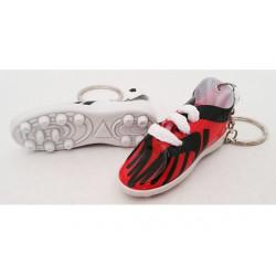 Bomboniera portachiavi scarpetta da calcio colore rossonero