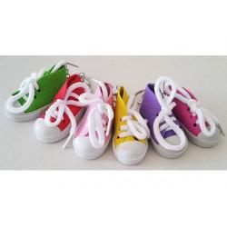 6 pz Bomboniera portachiavi Sneakers colori misti