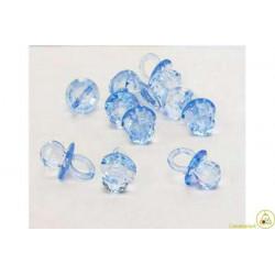 Ciondolo Ciuccio Colore Celeste Brillante 3 pz da 4 cm