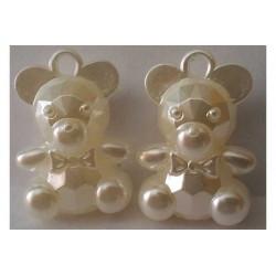 Ciondolo orsetto perlato cm 3 pz 2