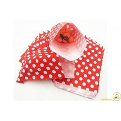 10 sacchettini porta caramelle pois rosso