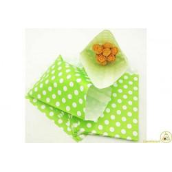 10 sacchettini porta caramelle pois verde