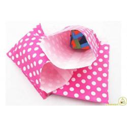 10 sacchettini porta caramelle pois rosa