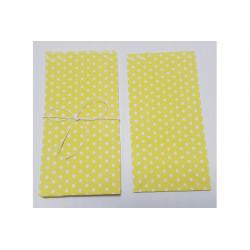 6 sacchettini porta caramelle pois giallo