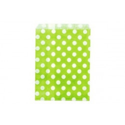 6 sacchettini porta caramelle pois verde