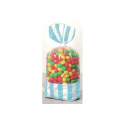 8 Sacchetti porta caramelle celeste