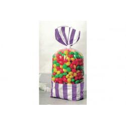 8 Sacchetti porta caramelle lilla
