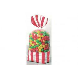 8 Sacchetti porta caramelle rosso
