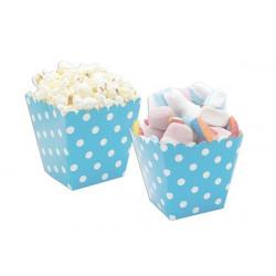 12 coppette pois celeste per marshmallow e popcorn