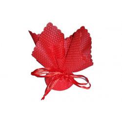 10 pz Fazzoletto portaconfetti con tirante in raso in spugna Quadrato colore Rosso