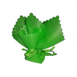 10 pz Fazzoletto portaconfetti con tirante in raso in spugna Quadrato colore Verde