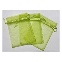 10 Sacchetti in organza per confetti Verde