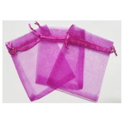10 Sacchetti in organza per confetti Viola
