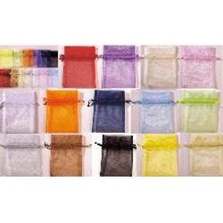 10 Sacchetti in organza per confetti Colori Assortiti