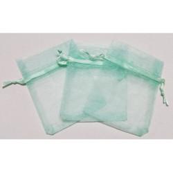 10 Sacchetti in organza per confetti Tiffany