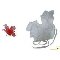 10 Fazzoletti in organza quadrati per confetti Rosso