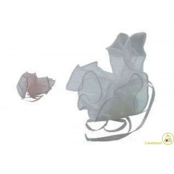 10 Fazzoletti in organza quadrati per confetti Rosa