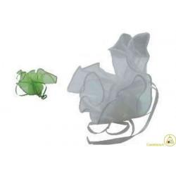 10 Fazzoletti in organza quadrati per confetti Verde