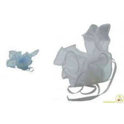 10 Fazzoletti in organza quadrati per confetti Lilla