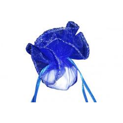 50 Veli in organza con laccetto con orlo in argento Tondo colore Viola diam 24 cm