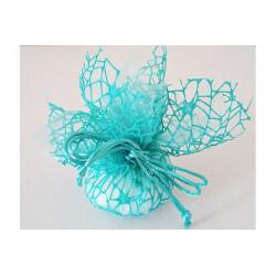 Sacchetto con tirante composto da polycotton e velo di fata Tiffany da 24x24cm 10pz
