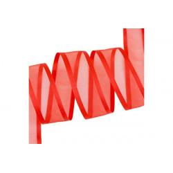 Nastro Rosso in Organza bordato in Raso 20mmx30mt