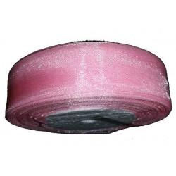 Nastro in organza rosa 25mmx45mt