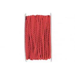 Cordino ritorto in Rayon 3mmx25m Rosso