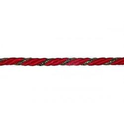 Cordoncino 3 capi rosso oro 5mmx25mt