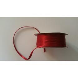 Nastro Doppio Raso Rosso 3mmx50mt